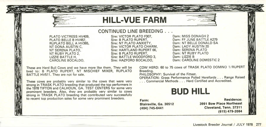 Ad from 1978