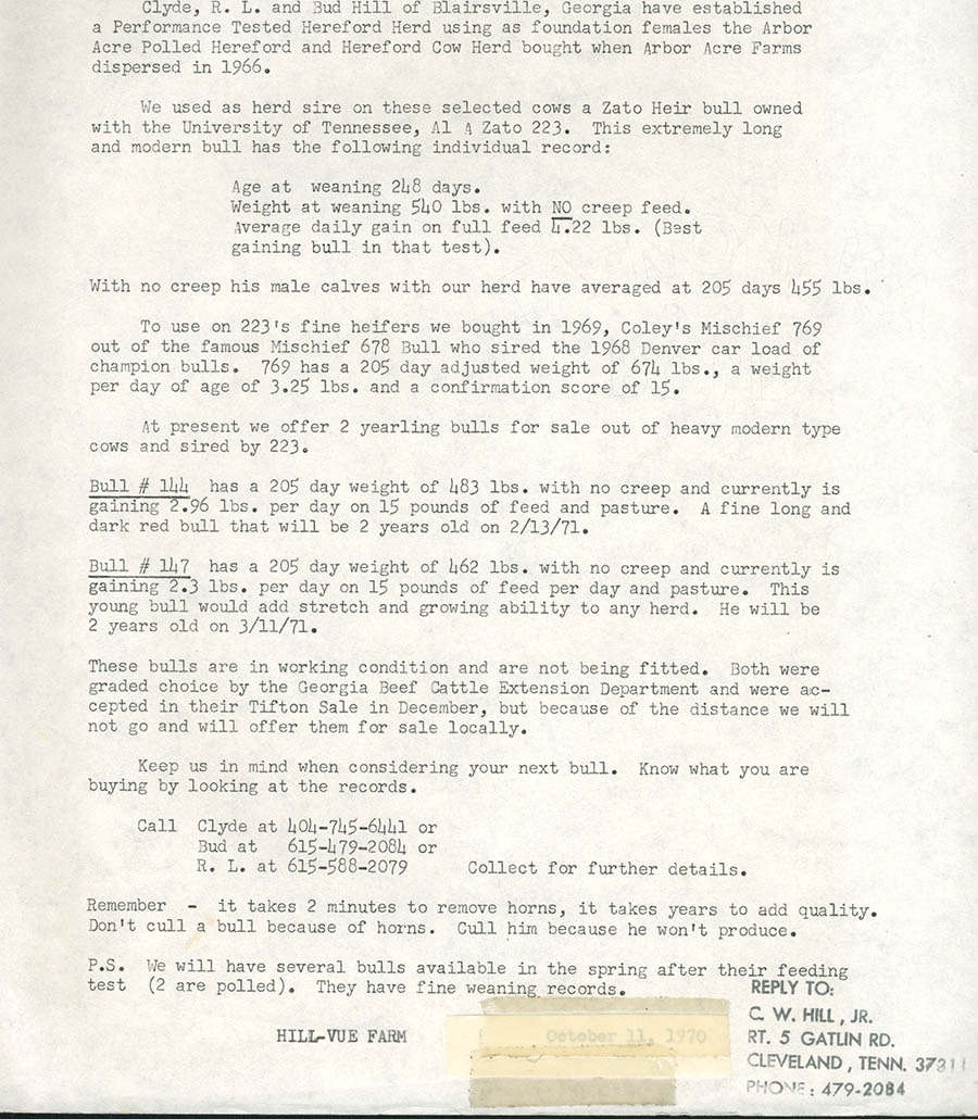 Early Herd Info - Page 1